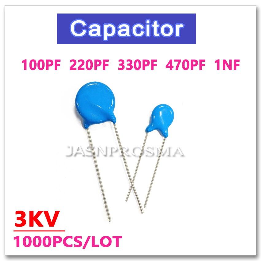 10nF HV 3 kV Alto Voltaje Condensadores de Cerámica Disco rango de valores 15pF