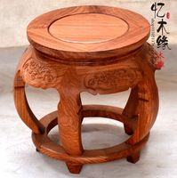 Mahogany wood drum drum stool stool wooden shoes African pear flower drum stool bag mail Zheng