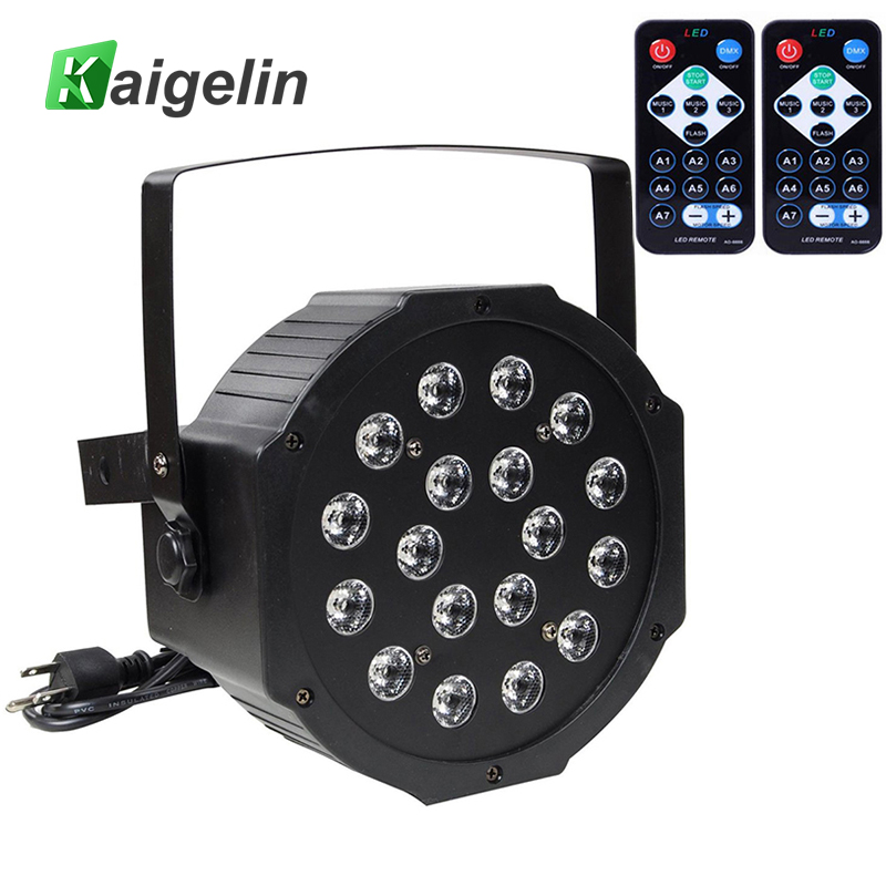 Professional Disco LED Stage Lights 18 RGB PAR LED Lamp DMX Stage Lighting Effect Led Projector DJ Party KTV AU/US Plug + Remote mini rgb led party disco club dj light crystal magic ball effect stage lighting