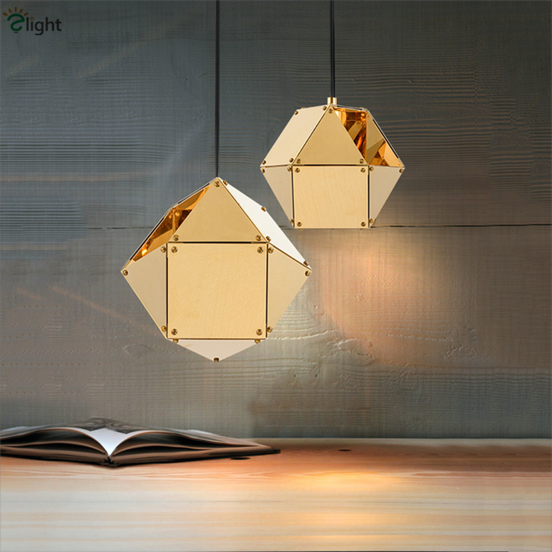 1 Head Wells DNA Solid Geometric Pendant Light Painted Metal Rotatable Gold Specular Novelty Suspension Light For Toggery uti caused by staphylococcus dna in comparison to candida dna