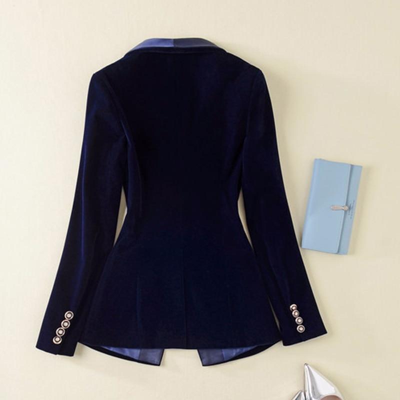 Blazer Manches Veste À 2019 Chauds Femmes Supérieure Qualité Velours Longues Piste Vêtements En Date De Designer pXxFqO