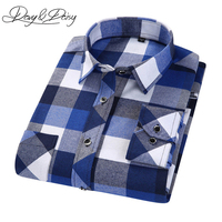 DAVYDAISY 2017 Spring Autumn Casual Shirt Men British Style Plaid Long Sleeve Shirts Male Chemise Homme 12 Colors DS 171