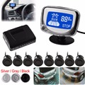 Weatherproof 8 Rear Front View Car Parking Sensor 8 Sensors Reverse Backup Radar Kit System with LCD Display Monitor