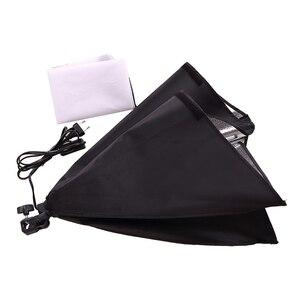 Image 3 - Софтбокс для фотостудии с держателем E27, 50x70 см, складной зонт, Легкая Лампа 150 Вт 5500K светильник подставкой, набор для непрерывного освещения