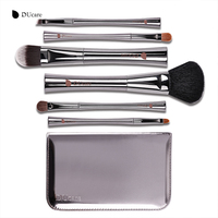 DUcare 6Pcs Professional Make Up Brushes Set Foundation Blusher Kabuki Powder Eyeshadow Eyebrow Lip Eyebrow Brushes
