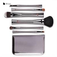 DUcare 6Pcs Professional Make Up Brushes Set Foundation Blusher Kabuki Powder Eyeshadow Eyebrow Lip Eyebrow Brushes