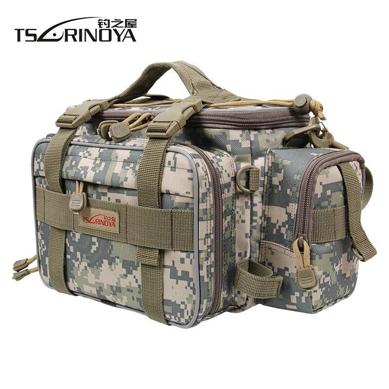 TSURINOYA Y7 40 15 19cm Multi function Canvas Waist Fishing Bag Waterproof Fishing Lure Shoulder Bag