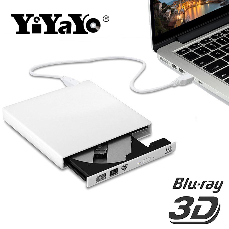 YiYaYo Bluray Drive USB 2 0 DVD RW Burner Writer BD ROM Blu ray Drive CD