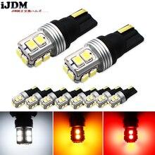 10 قطع t10 led لمبة في canbus w5w 168 194 led الأبيض 12 فولت مصباح لل أضواء لوحة ترخيص ، أيضا مواقف موقف أضواء ، أضواء الداخلية