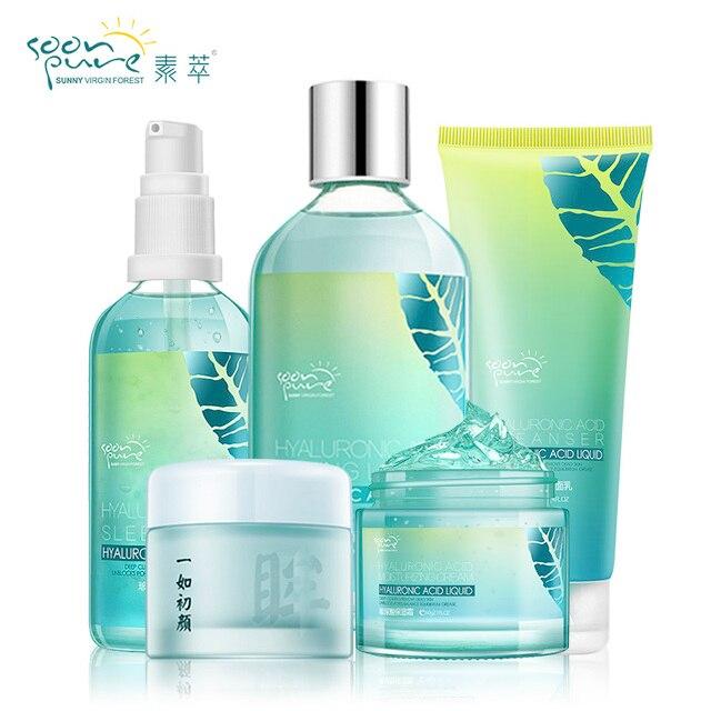 SOONPURE Hyaluronic Acid Moisturizing Face Cream Skin Care Whitening Acne Treatment Black Head Ageless Anti Wrinkle Lift Beauty