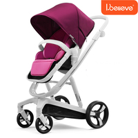 I Believe High Quality Luxury Baby Stroller High Landscape Shockproof Lying Newborn Trolley Intelligent Brake Baby