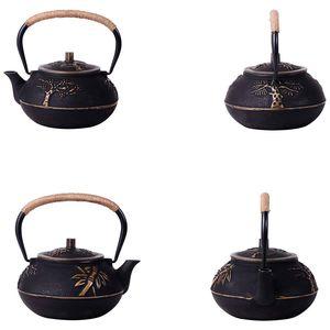 Image 2 - Dàn Diễn Viên Nhật Sắt Ấm Trà Ấm Đun Nước Inox Gỉ Màng Lọc Hoa Mận 30 Ounce ( 900 Ml)