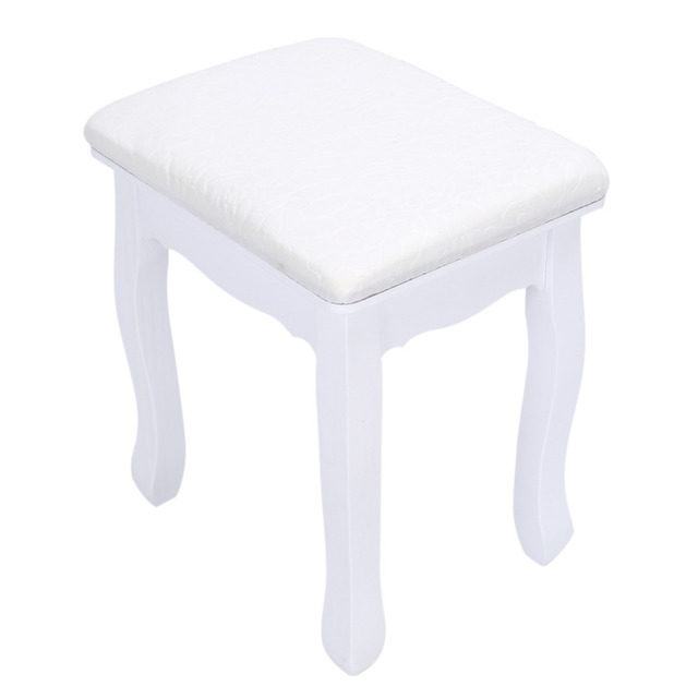 Fille Commode Tabouret Chaise Chambre Dressing De Maquillage Solide Woood Main Femme Meubles Avec
