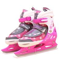 1 Pair Adult Women Children Ice Blade Skates Shoes Adjustable Ice Blade Thermal Adjustable Figure Skating 2 Colors For Girls