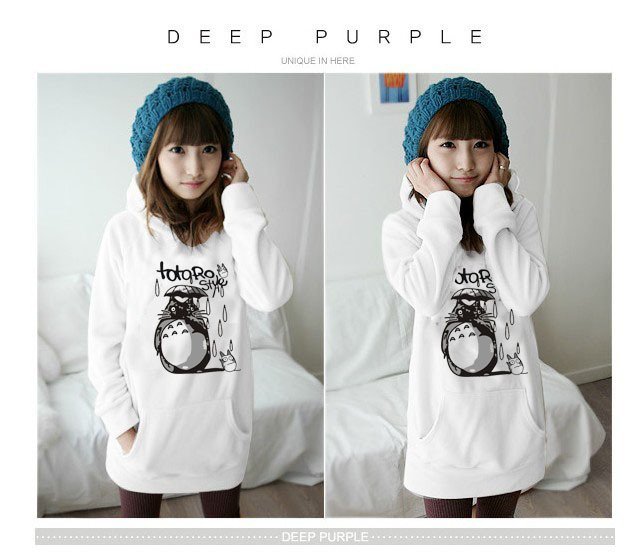 Autumn Outerwear Totoro Outerwear Plus Size Velvet With A Hood Men And Womens 100% Cotton Clothing Sweatshirt Hoodie Wholesales