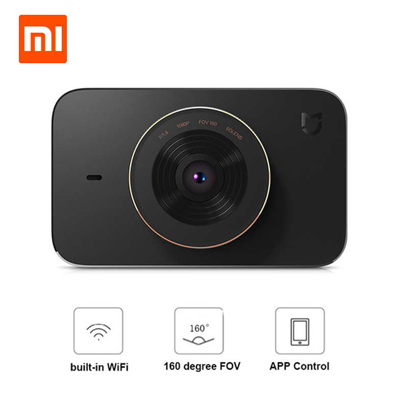 Original Xiaomi 3.0 Inch Smart WiFi DVR 160 Degree Wireless Car Dash Cam 1080P Full HD Night Version G-Sensor Driving Recorder xiaomi yi smart car dvr 1080p 160 wifi 240mah for android