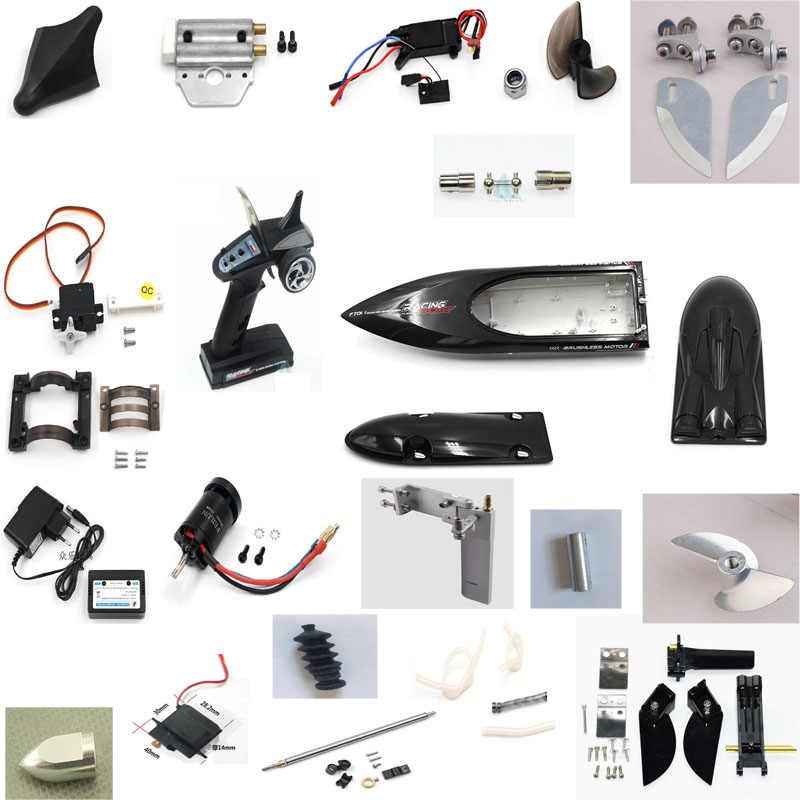 をfeilun FT011 rcボート金属のアップグレードパーツメタル舵プロペラ水冷パーツモーターescボディシェルなど。