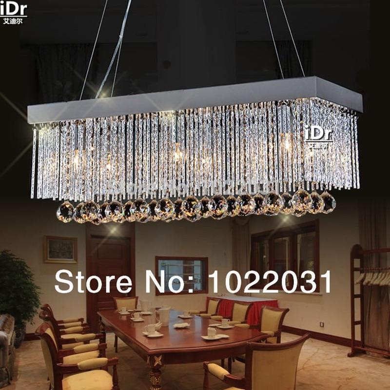 6 bulb K9 crystal Chandelier popular design square New modern 90V 260V E14 crystal lights Factory
