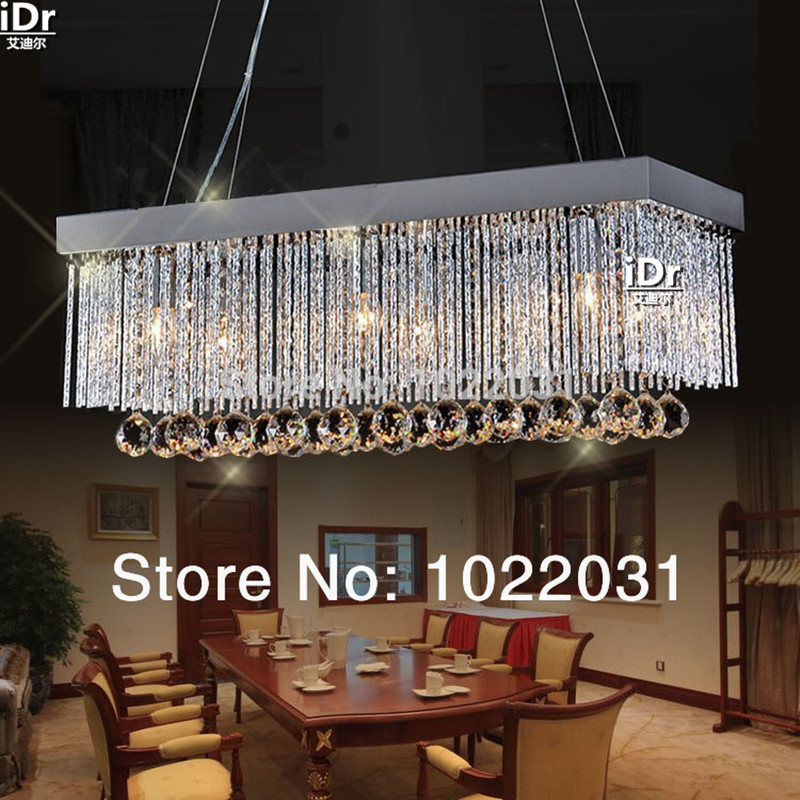 6 bulb K9 crystal Chandelier popular design square New modern 90V 260V E14 crystal lights Factory
