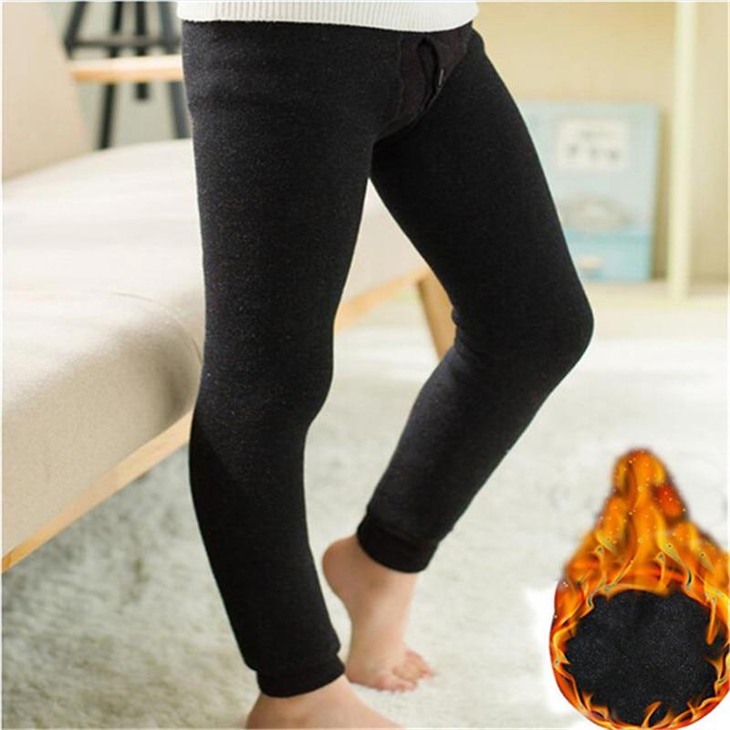 Boys Leggings 2020 Autumn Winter Long Children Elastic Kids Pants Warm Plus  Velvet Leggings Boy Thermal Underwear for 2 14 Years| | - AliExpress