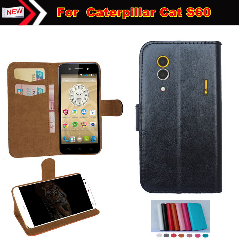 New 6 Colors High Quality Flip Leather Exclusive Protective Cover Case For Caterpillar Cat S60 Cell Phone Case Free Shipping