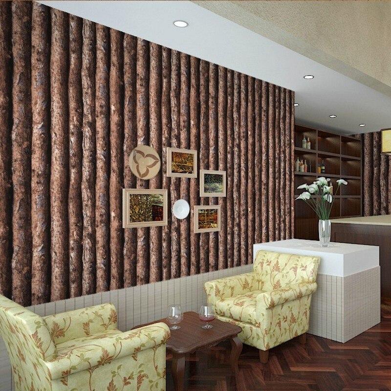 Freies Verschiffen Retro Chinesischen Stil Nachahmung Rinde Holz Tapete  Eigenschaften Restaurant Cafe Bekleidungsgeschäft Tapete In Freies  Verschiffen Retro ...