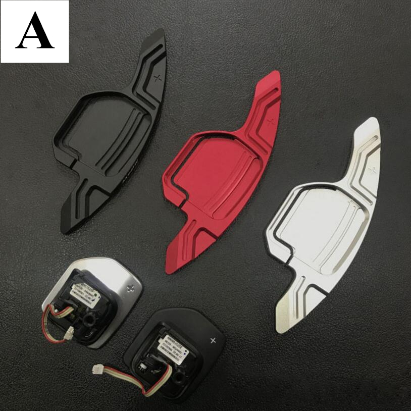 Wheel Aluminum Paddle Shift Extension Trim For Audi A3 A4 A5 A6 A7 A8 S3 S4 S5 S6 S7 S8 Q2 Q3 Q5 Q7 SQ5 RS3 RS6 RS7 R8 TTS TT RS savanini 2pcs alloy add on steering wheel dsg paddle shifters extension for audi a7 2013 2016