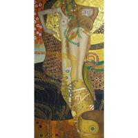 Handmade Gustav Klimt paintings Water Serpents Nude beautiful Woman art Reproduction Canvas artwork for wall decor High quality