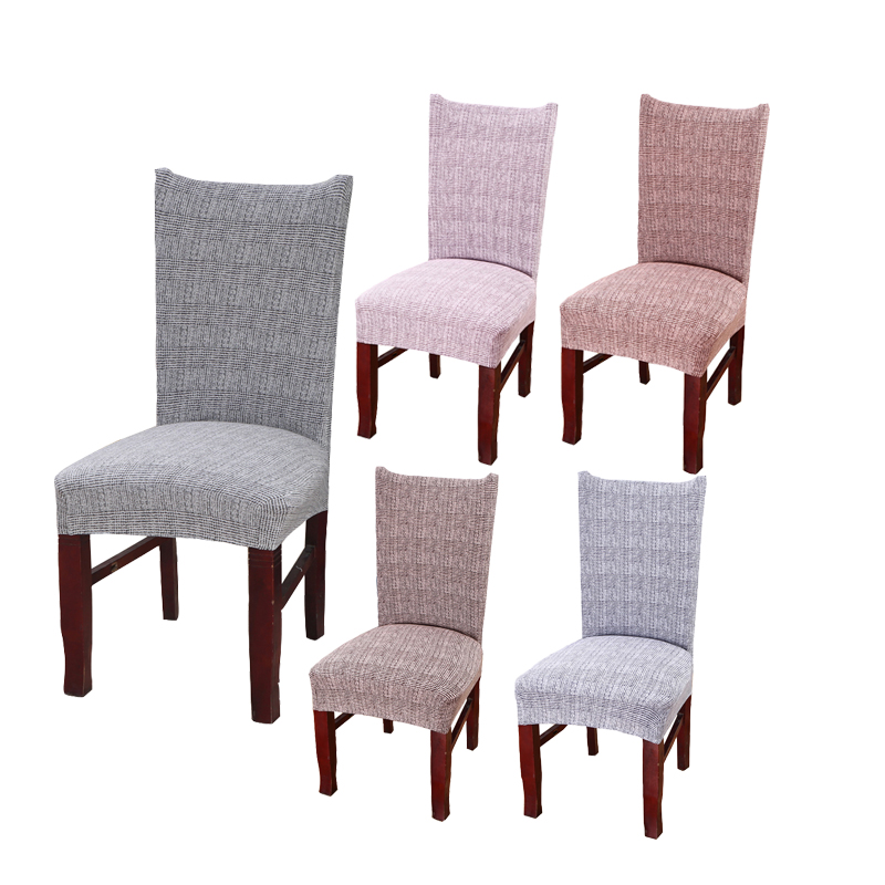 Minimalist Solid Color Dining Room Chair Cover Spandex Stretch Polyester Protector Chiar Seat Covers Office Restaurant Seat Case