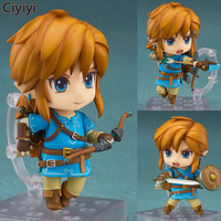 Hot Game The Legend of Zelda Cute Link Pvc Figure Action Toy Cartoon The Legend of Zelda With Bow&Arrow Model Juguetes Kids Gift