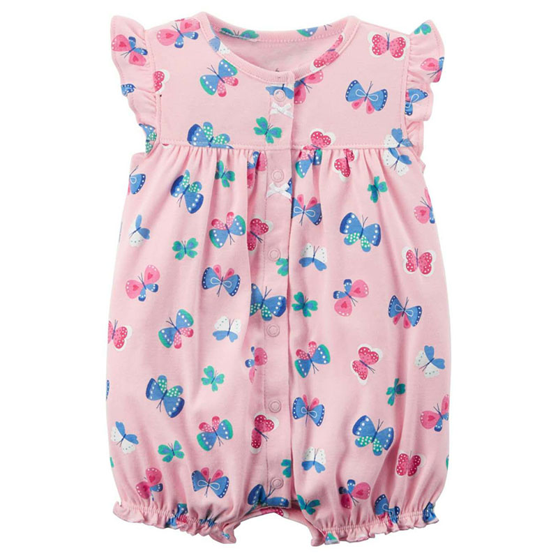 2018 Summer Brand Romper Baby Girl Clothes Sleeveless Baby Girl Clothing Newborn Rompers Cute Butterfly Kids Boy Cute Jumpsuit summer 2017 baby kids girl boy infant summer sleeveless romper harlan jumpsuit clothes outfits 0 24m