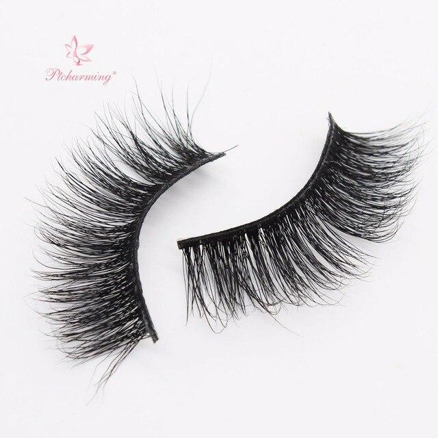 b23128dd541 Ptcharming Handmade 100% 3D Real Siberian Mink False Eyelash Individual  Eyelashes Extension Faux Lashes-PTAME-A05