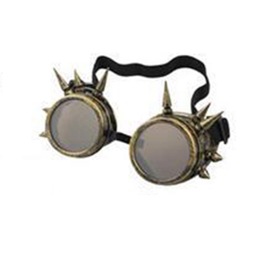 Vintage Steampunk Cyber Goggles 3D Skull Lens Sunglasses Retro Punk Gothic Glasses With Rivet Welding Gothic Halloween Eyewears(China)