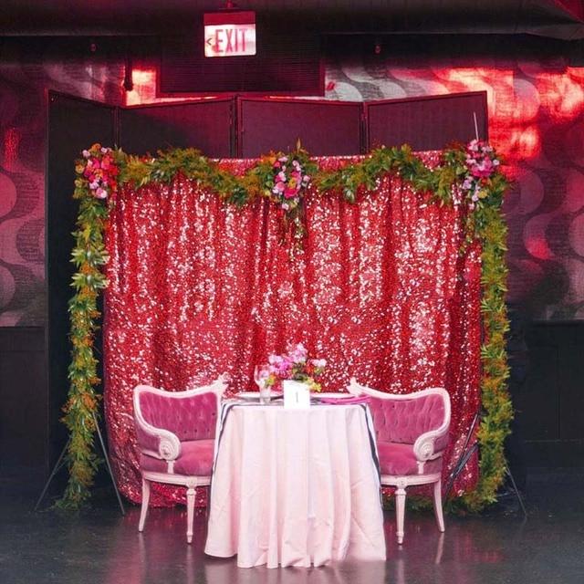 WEIGAO 130x180cm Sequin Mesh Cloth Backdrop Birthday Party Wedding