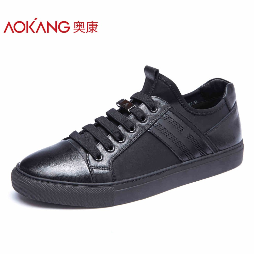 AOKANG New Arrival men s casual shoes men genuine leather shoes men s top fashion shoes