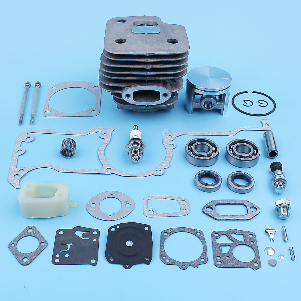 For Big 52mm Spare Cylinder 272XP 268 Carb XP Plated Kit 61 Piston 272 Chrome Chainsaw Bearing Gasket Part Husqvarna Bore