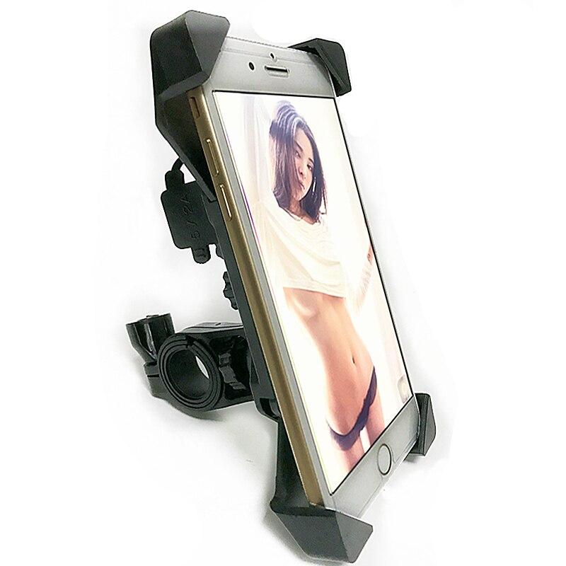 Smoku руль велосипеда мобильный стенд Крепления RAM GPS Универсальный Регулируемый мотоциклов держатель телефона для Ipone xiaomie с USB зарядки