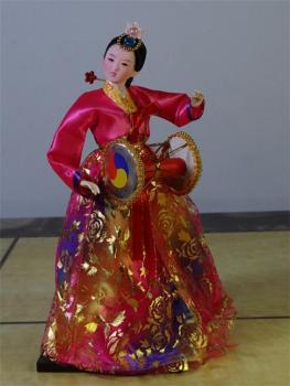Korean Folk Figurines in Authentic Costume – Choice of 14 Different Dolls