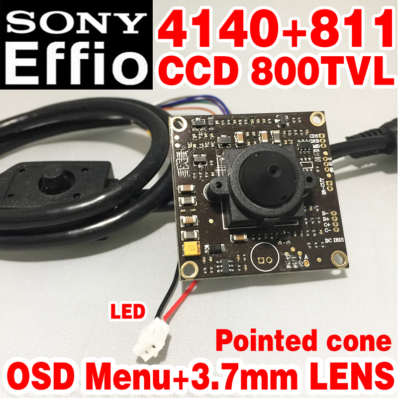 Sony Chip 3.7mm pointed cone Analog hd Mini Monitor camera module 1/3 CCD Effio 4140+811 800tvl OSD meun surveillance products freeshipping rs232 to zigbee wireless module 1 6km cc2530 chip