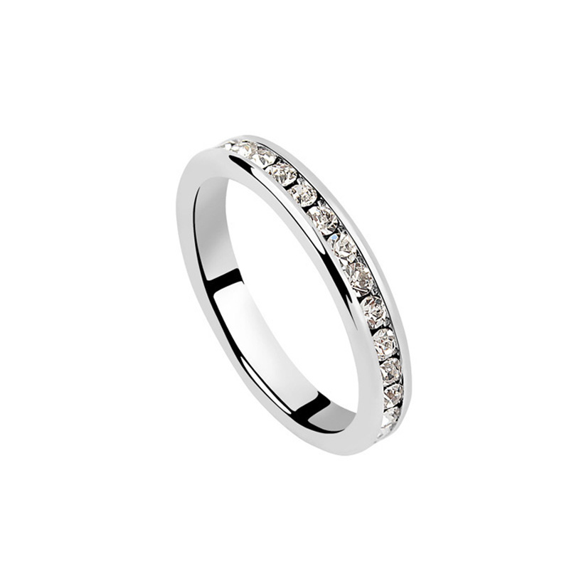simple wedding ring white austrian chic wedding band ring marriage 7520