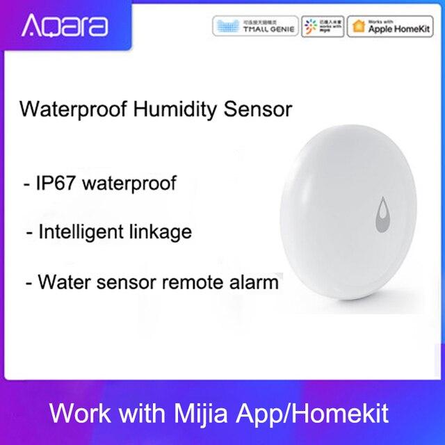 Original Aqara IP67 Wasserdichte Feuchtigkeit Sensor Smart Home Wasser Sensor Remote Alarm APP Control