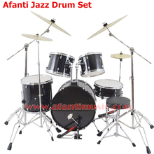 5 Drums 4 Cymbals / Black color / Afanti Music Jazz Drum Set / Drum kit (AJDS-426)