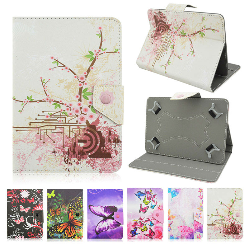 Butterfly Stand PU Leather Case Cover For Explay Prime 10.1 inch funda tablet 10 universal bags+Center Film+pen KF492A butterfly pu leather stand case cover for tablet irbis tx12 10 1 inch universal 10 inch tablet cases center film pen kf492a