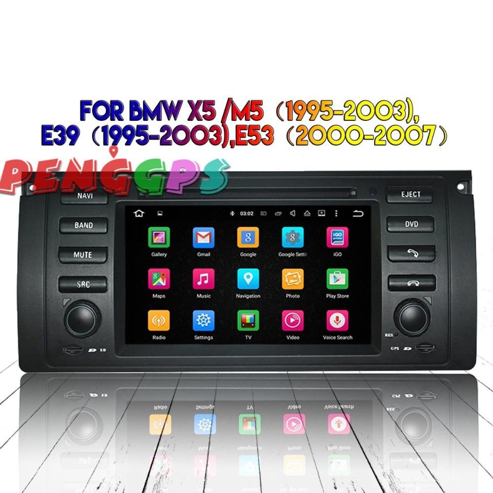 Android 8.0 7.1 Voiture Radio GPS Headunit Pour BMW X5 M5 1995-2003 E39 1995-2003 E53 2000 -2007 Multimédia De Voiture Stéréo Lecteur DVD Auto