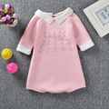 Ins Hot Cute Sweet Pink&green Romper Knitted Cotton Clothings baby rompers Boy Girl Children Clothings
