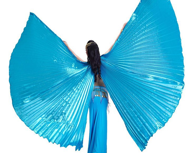 2017 High Quality Egyptian Opening Isis Belly Dance Wings Dance Accessories Wing Sale Without Stick Brand New 8 Colors available