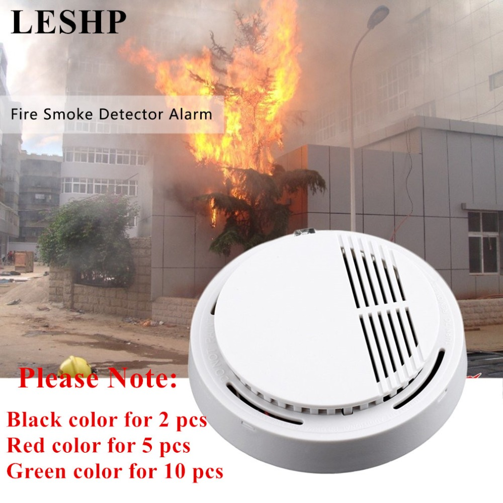 Strict Leshp 2/5/10 Pcs Smoke Detector Photoelectric Fire Alarm Sensor Sensitive Home Independent Fire Detector For Family Guard Smoke Detector