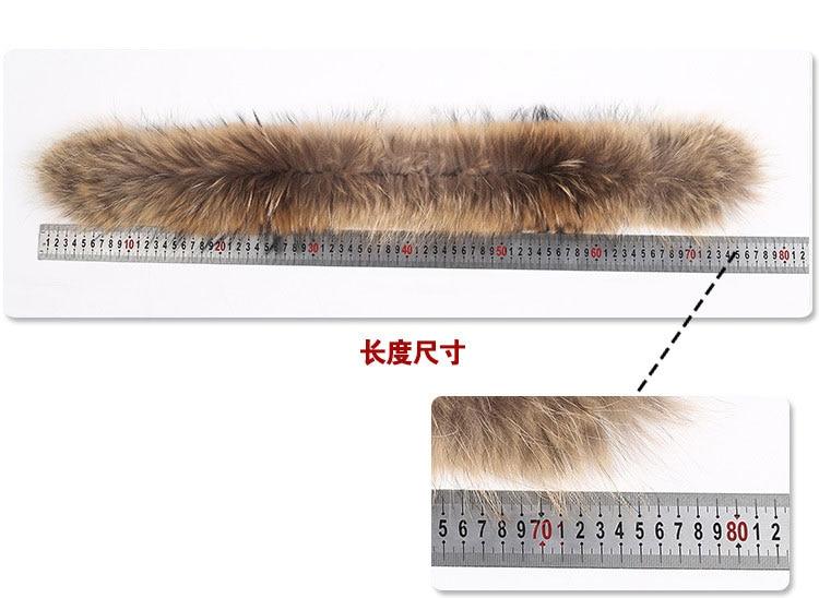 natural raccoon fur hoody trim collar (3)