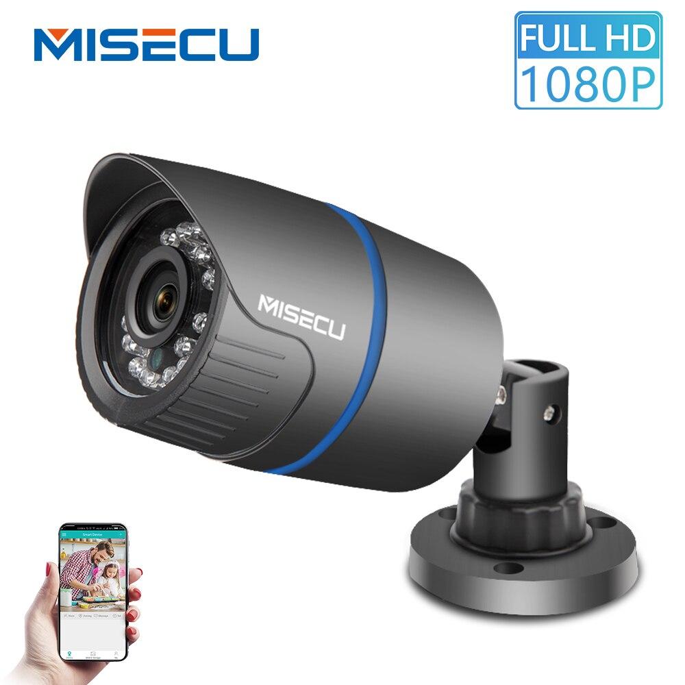 MISECU de 2,8mm de ancho, cámara IP 1080 P 960 P 720 P ONVIF P2P detección de movimiento RTSP alerta de correo electrónico vmeyesuper de 48 V POE de vigilancia CCTV al aire libre