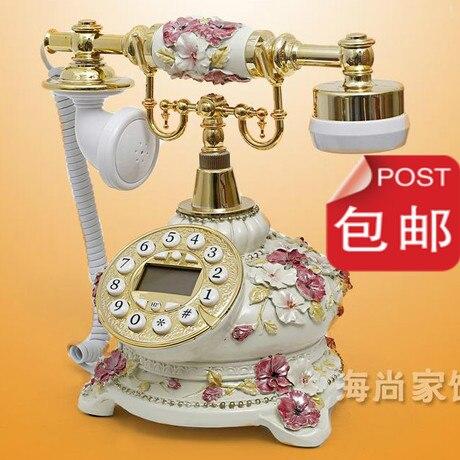 Téléphone antique de mariage haut de gamme, téléphone rétro, mignon à la mode, machine créative, salon en résine, courrier fixe Landli